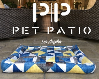 Orthopedic Dog Bed Crate Mat- Square Large Medium Small with WASHABLE Cover, Pattern Pillow Animal Lover Gift