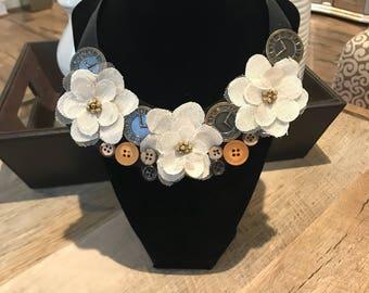 Vintage Inspired Bib Necklace