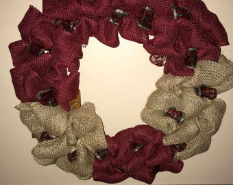 Wreath - year round or holiday time handmade by me, JLynne.  CUSTOMIZEABLE