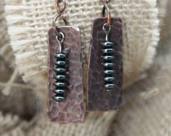 Hematite Tower Earrings