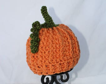 Crocheted Pumpkin Hat