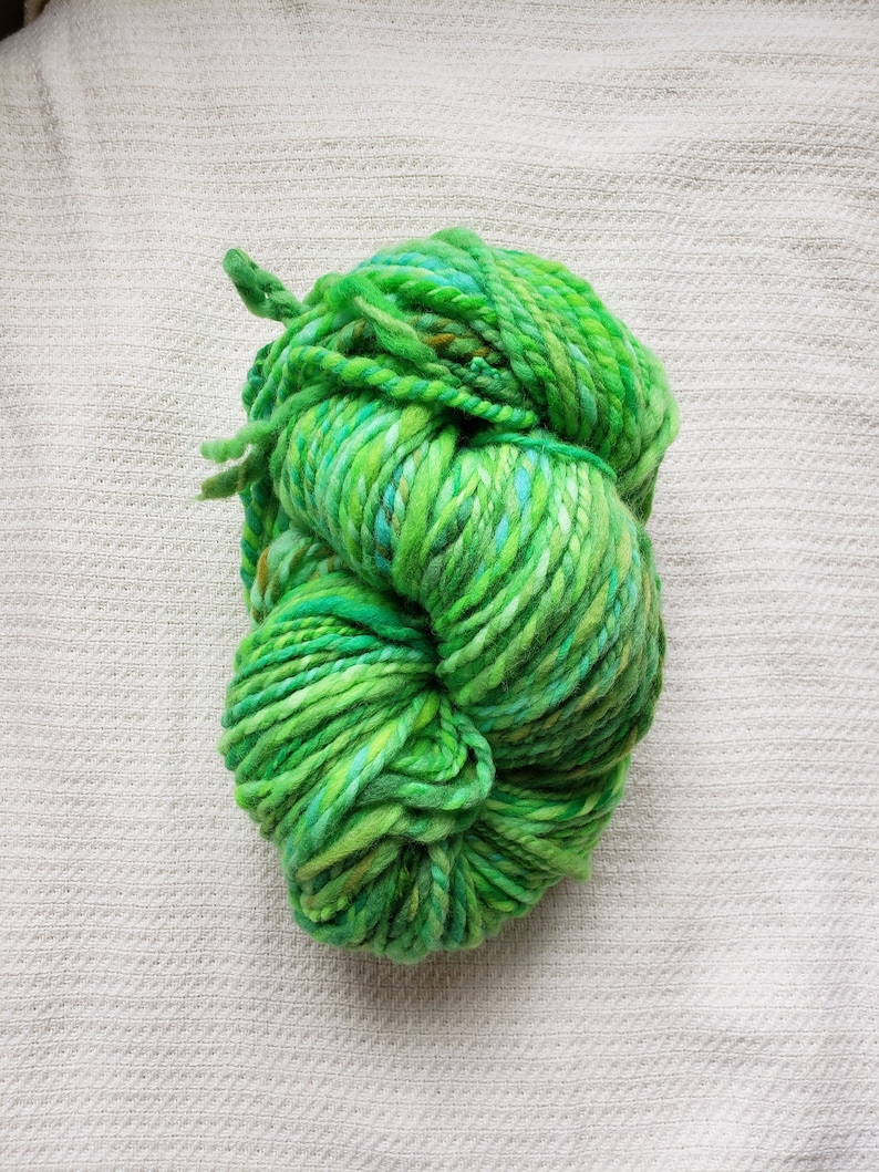 Hand Dyed /& Hand Spun Wool Yarn