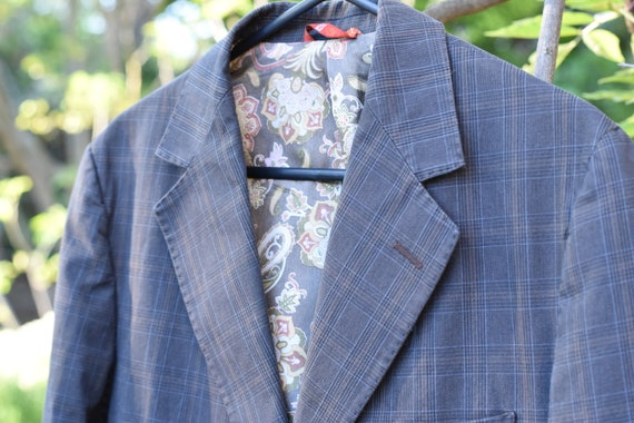 Vintage Checked Suit Jacket