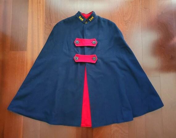 """Vintage 1940s Liz Hopkins """"S.H.H"""" Nurses Cape Coat"""