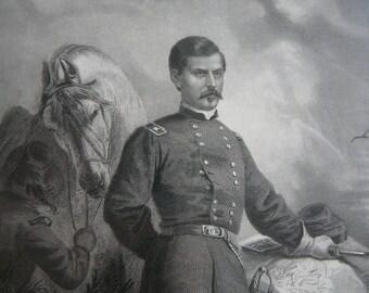 72a67c53497 Civil War Gen Phil Sheridan Lithograph 1867
