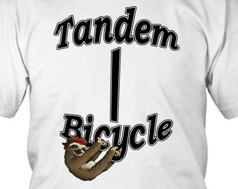 Tandem Bicycle Sloth T-Shirt
