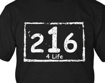 216 4 Life T-Shirt Cleveland Ohio
