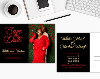 Save The Date Postcard Style
