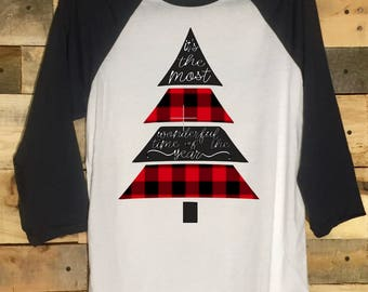 It's the Most Wonderful Time of the Year Christmas 3/4 Sleeve Tee