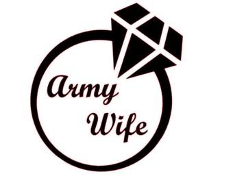 """Army Wife Sticker 2.5"""""""