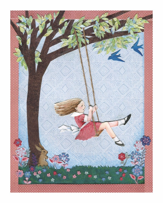 The Swing Original Collage Print Inspired By Poem By Robert Louis Stevenson