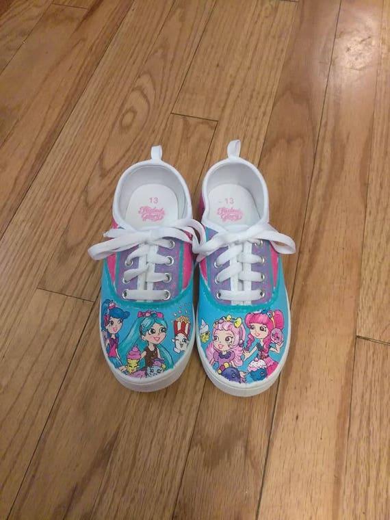 b1e25f338ddce Hand painted canvas shoes - Shopkins Shoppies