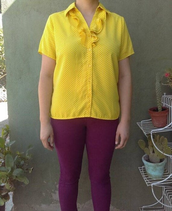 Blouse vintage polka dots/blouse vintage/vintage/b