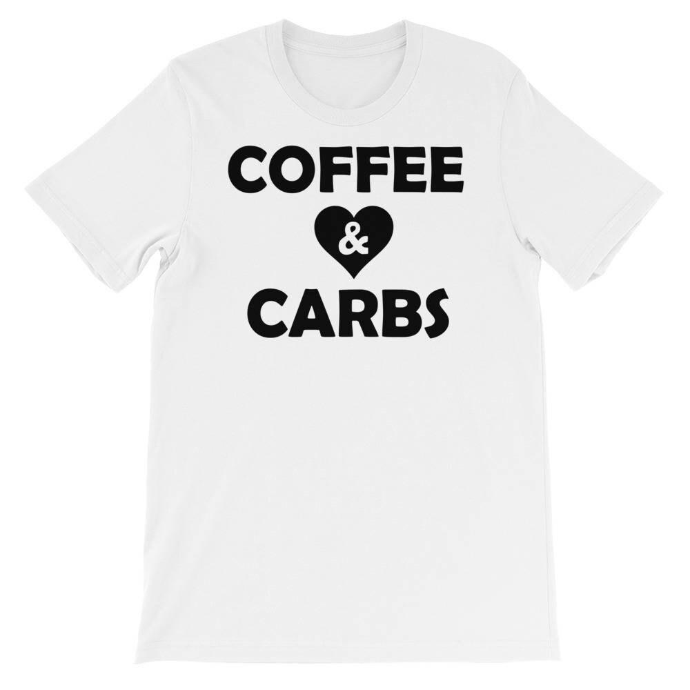 Coffee & Carbs Shirt - Coffee Lovers T-shirt - Mom Shirt - Mama Loves Carbs T-shirt - Cheat Day Shirt LongSleeve Tee