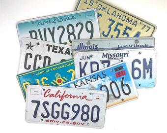 1 SET OF 8 USA LICENSE PLATES ROUTE 66 BEST NUMBER TAGS CA~AZ~NM~TX~OK~KS~MO~IL