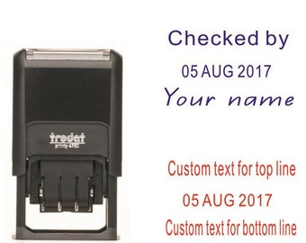 Name And Date Stamp Etsy