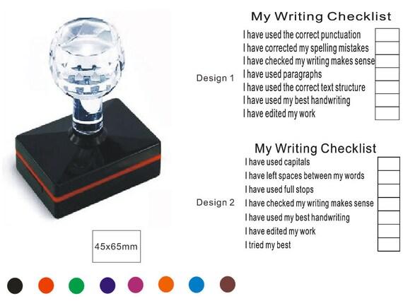 Personalized Teacher Checklist Stamp Self Inking Stamp Teacher Writing Checklist Stamp Custom Teacher Checklist Stamp
