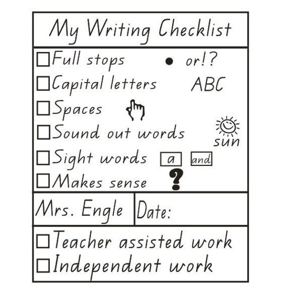 Personalized Teacher Stamp Self Inking Stamp Teacher Writing Checklist Stamp Checklist Stamps Teacher Gifts Xmas Gift