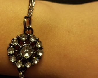Double Delicate Chain with Diamond Charm