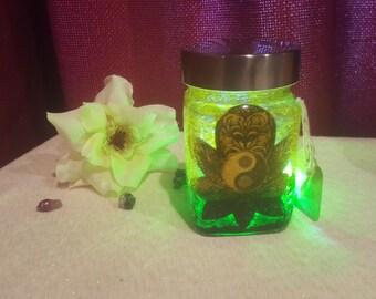 Floral Ying Yang Mystic Jar