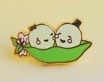 Peas in a Pod Enamel Pin