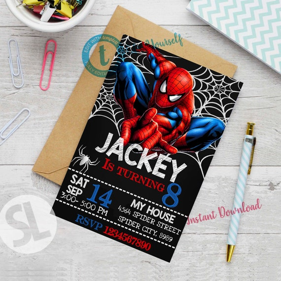 picture regarding Printable Spiderman Invitations identify Spiderman Invitation, Spiderman, Spiderman Celebration, Spiderman Printable, Spiderman Invite, Spiderman Birthday Occasion, Editable Invitation