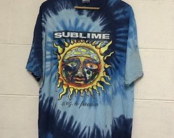 54b65a919 Sublime 40 Oz To Freedom Tie Dye Band Tshirt American Ska Punk