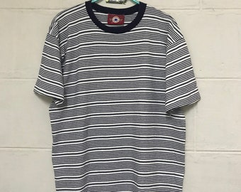 31758360045d Vintage Converse Tshirt Striped Black And White American Shoes Company