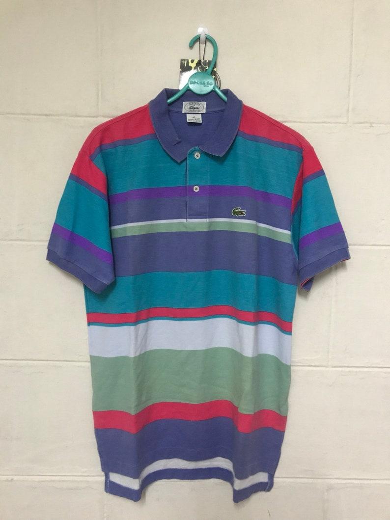 2ce957558ee Vintage Izod Lacoste Multicolor Polo Shirts | Etsy