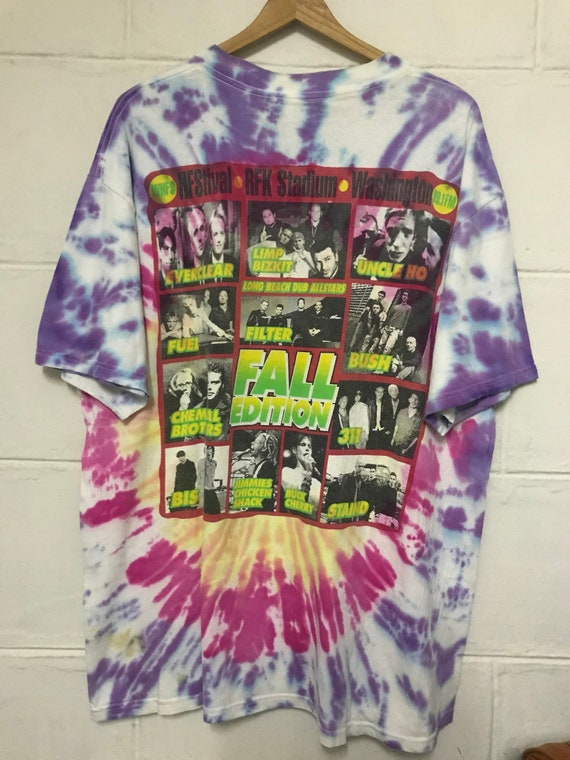 8f319ffc69607 Vintage 1999 HFStival Fall Edition Tie Dye Tshirt Rfk Stadium Washington DC