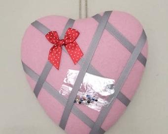 Heart shaped notice/photo board