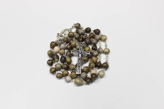 Job S Tears Seed Bead Rosary Seed Beads Job Tears Rosary Etsy