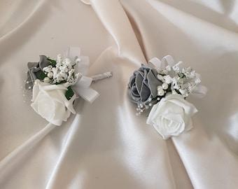 Ideal Buttonholes x12 Buttonhole Bridal Corsage Lapel Safety Pins Clips 30mm