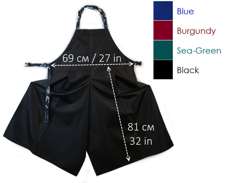 wide pottery apron