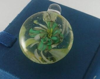 Lampwork glass pendant
