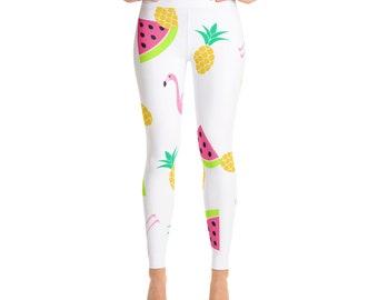 Activewear Gym Leggings Cute Watermelon Yoga Leggings Made in the US Free Shipping Squat Proof Women/'s Yoga Leggings Yoga Pants