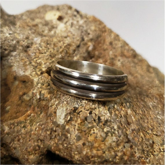 silver hammered band rings 6mm /& 4mm are handmade by Old Hippie Dave 925 sterling silver econo wedding bands custom made any size
