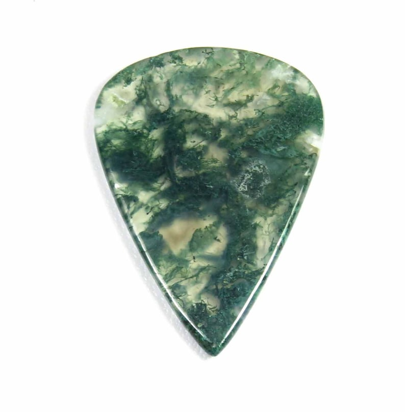 MX-4220 Natural Green Moss Agate Gemstone GLORIOUS! 45x32mm Pear Shape Seaweed Moss Agate For Jewelry Moss Agate Moss Agate Cabochon