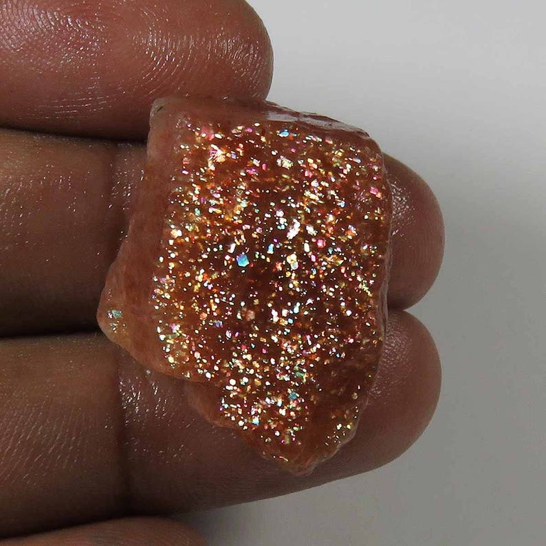 Red Sunstone For Jewelry Natural Sunstone Gemstone Rainbow Sparkle Sunstone MX#95 Sparkle Sunstone Cabochon Rough 45 Cts Top Rarest!