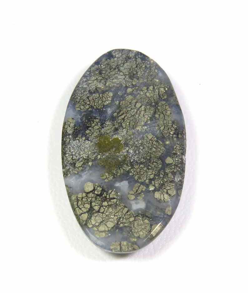 35 Cts MX-2905 Marcasite Cabochon Natural Marcasite Gemstone Oval Shape Grey Color Marcasite Loose For Jewelry Use Marcasite Charming!