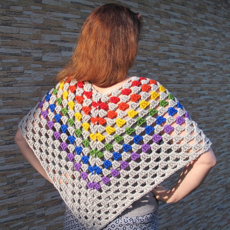 LGBT pride poncho Gay trans asexual pansexual lesbian girlfriend gift for Christmas
