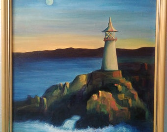 Lighthouse- an original oil painting