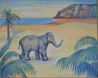 Elephant- original oil painting
