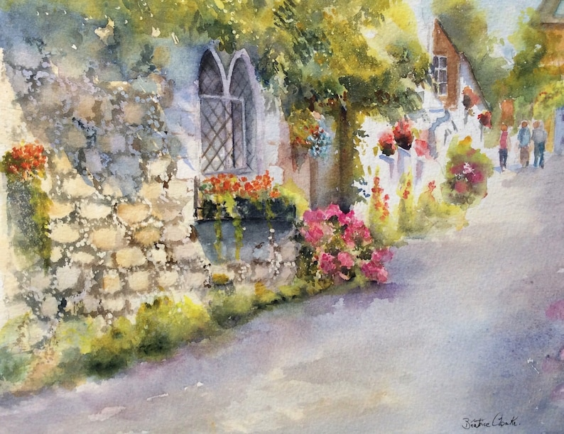 Church Hill Hythe Framed watercolour by Beatrice Cloake image 0