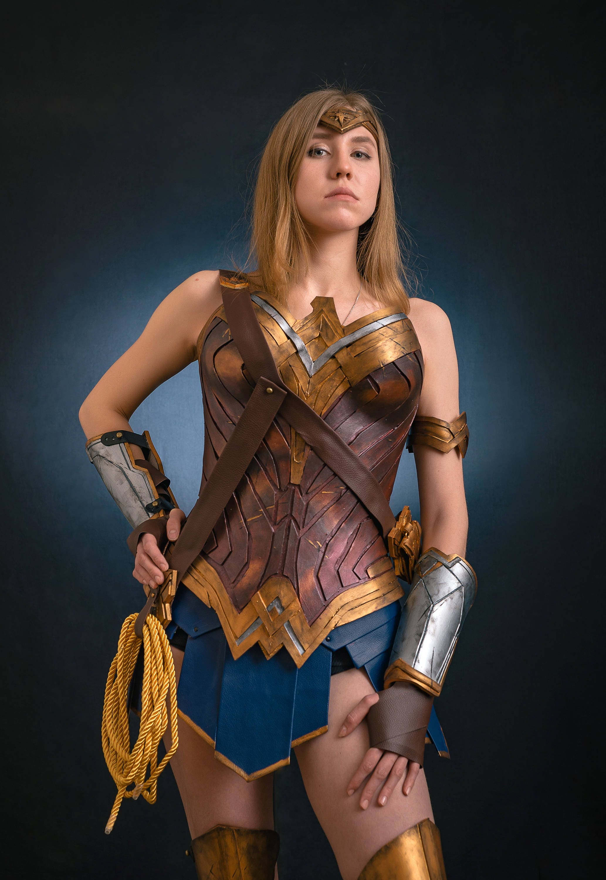 Corset Wonder Woman Costume Cosplay Full Armor Justice -3892