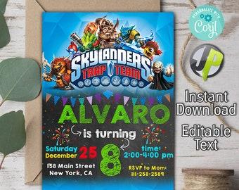 Skylanders Invitation Birthday Party Card Invite