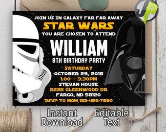 star wars invites etsy