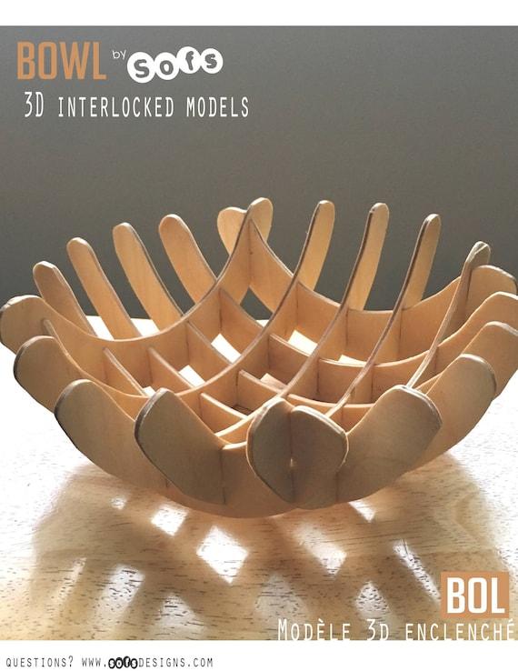 3d Modell Kleine Holz Schale Vorlage Digitaler Download Etsy