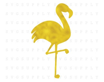 Golden Flamingo in Foil SVG Cut File vinyl decal for silhouette cameo cricut iron on transfer on mug shirt fabric design for all ages