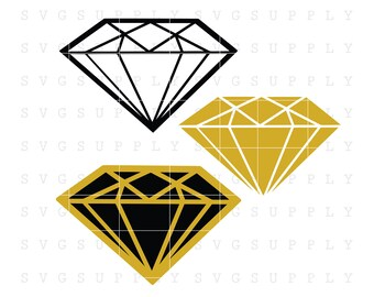 Diamonds SVG, Diamond cut file vinyl decal for silhouette cameo cricut iron on transfer on mug shirt fabric design for all ages